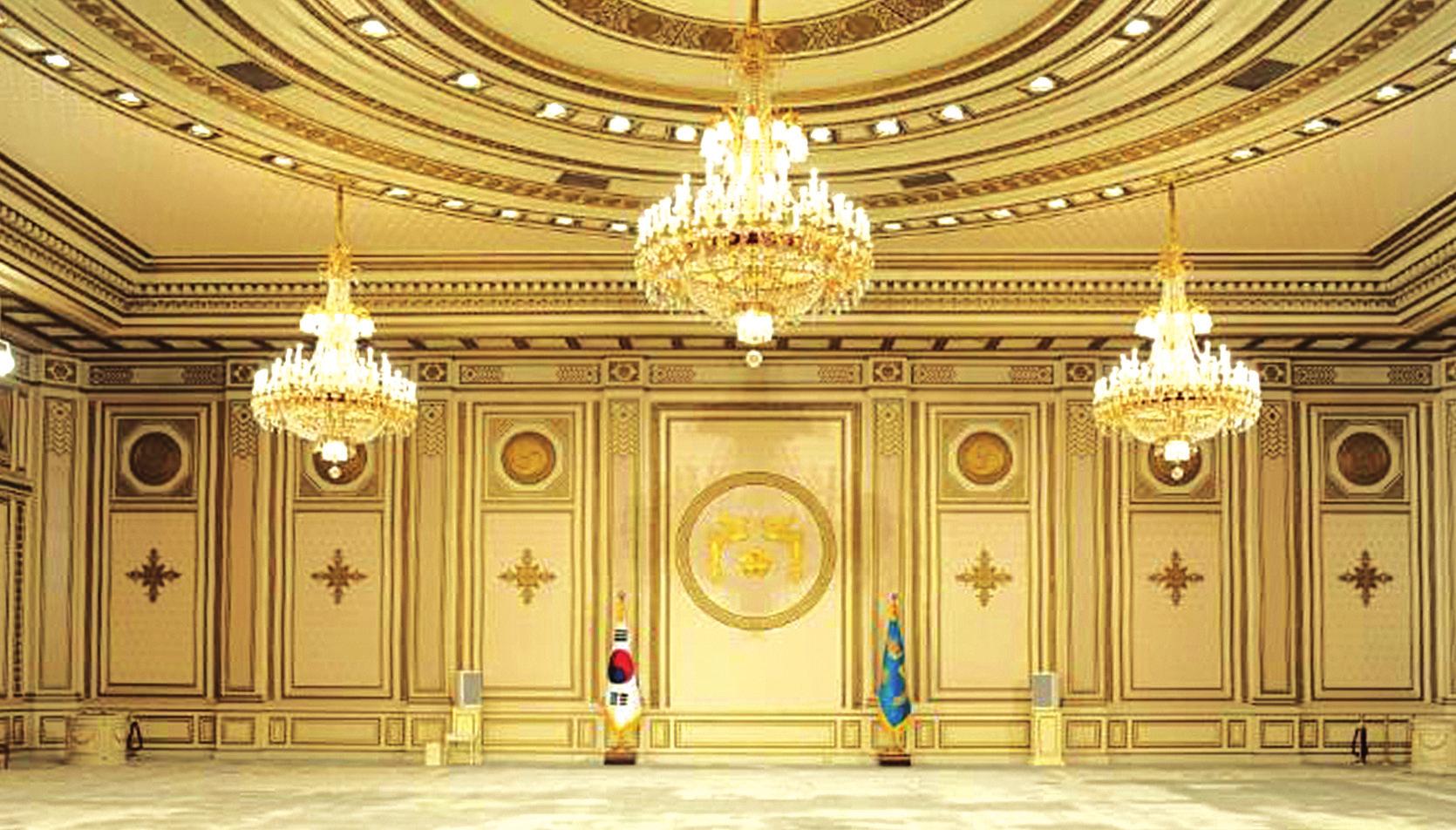 51. 완공된 청와대 영빈관 내부 사진