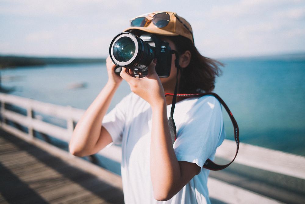 Girl Photographer in White
