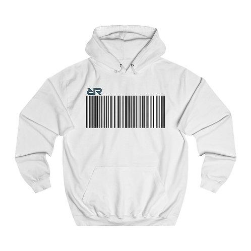 """""""Barcode"""" Hoodie // White"""