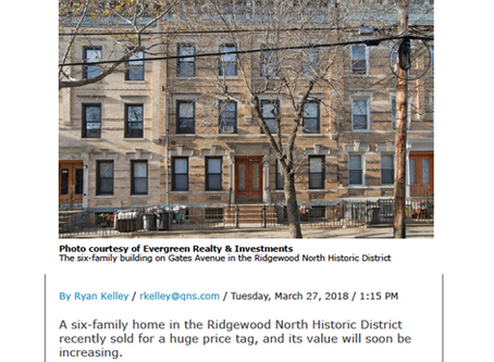 2035 Gates Ave. Ridgewood Sold - $2,275,000