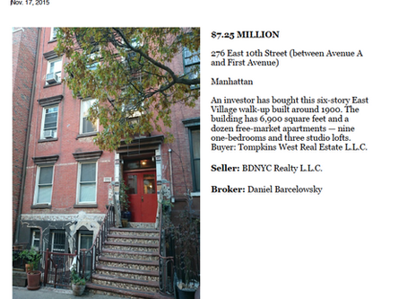 276 East 10th Street Sold - $7,250,000