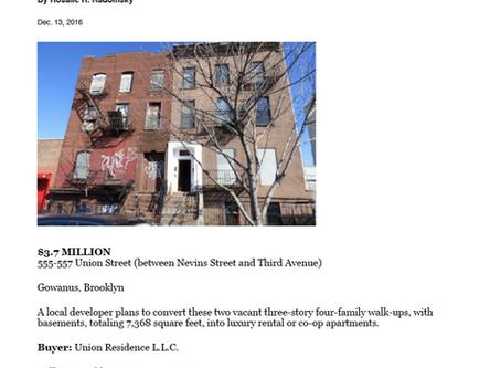 555-557 Union Street Sold - $3,700,000