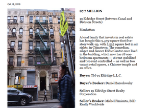 19 Eldridge Street Sold - $7,700,000