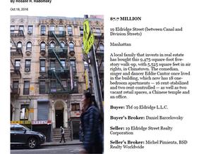 19 Eldridge Street Sold - $7,700,000