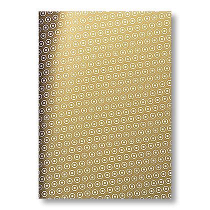 A4 Notizheft - gold (KARTONKULTUR)