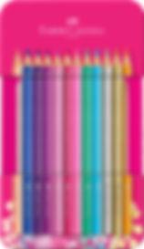 201737_Sparkle colour pencil tin with 12