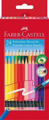 Radierbare Buntstifte - 24 Stück (Faber-Castell)