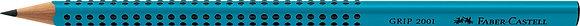 Bleistift GRIP 2001 Standard B - türkis (Faber-Castell)