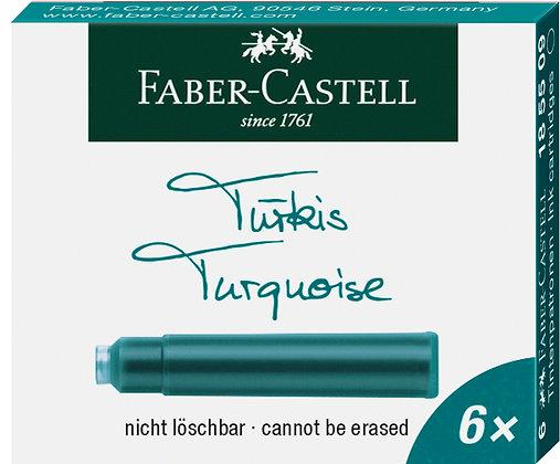 Tintenpatronen 6 Stück türkis (Faber-Castell)