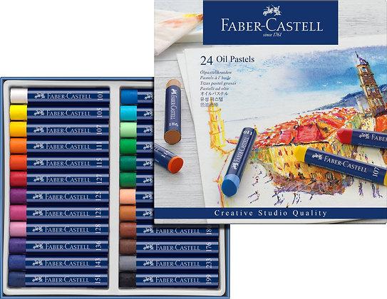 Ölpastellkreiden 24er Etui (Faber-Castell)