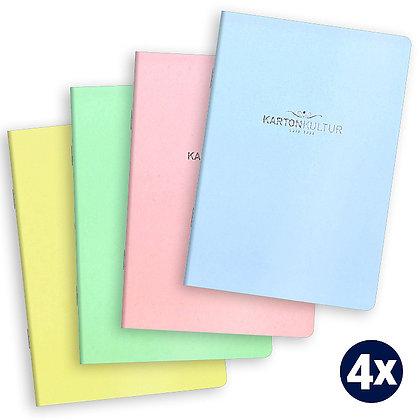 A6 Notizhefte pastell (KARTONKULTUR)