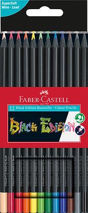 Black Edition Buntstifte 12 Stück (Faber-Castell)