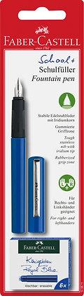 Schulfüller + Tintenpatronen SET blau (Faber-Castell)