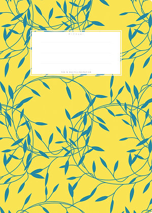 gelb / Blumen - A4 Starkpapier (minouki)