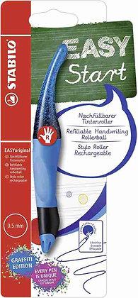 Easy Start Roller Pen - graffiti / blau  (STABILO)
