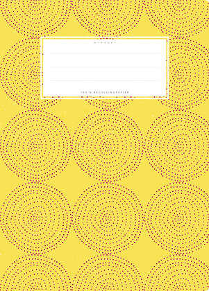 gelb / Kugeln  - A5 Starkpapier (minouki)