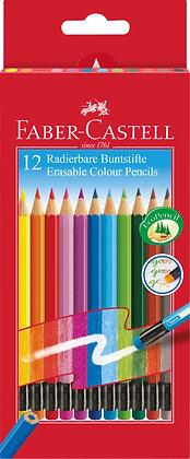Radierbare Buntstifte - 12 Stück (Faber-Castell)