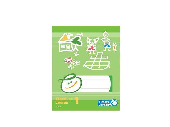 Creatives Lernen 1 - Quart - Timmy Heft - 20 Blatt Seite zum Zeichnen - 6/6/6 mm liniert - Schulhefte und Schulsachen