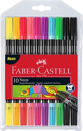 Doppelender Fasermaler neon  (Faber-Castell)