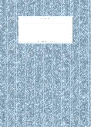 hellblau / Herringbone - A4 Starkpapier (minouki)