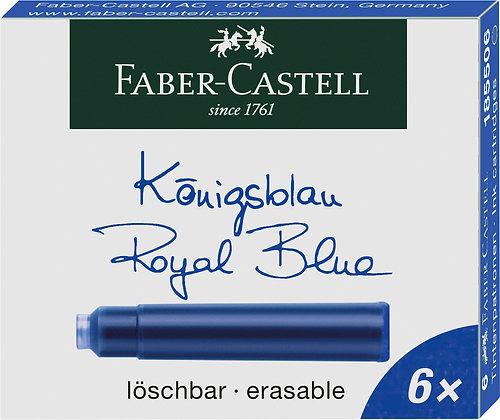 Tintenpatronen 6 Stück königsblau (Faber-Castell)