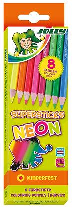 SUPERSTICKS Neon - 8 Farben (JOLLY)