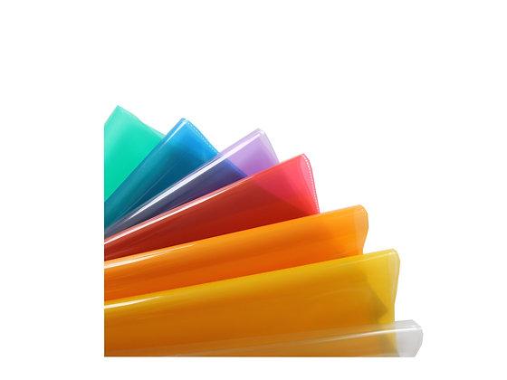 A5 Heftschoner - grün, blau, violett, rot, orange, gelb, transparent - Schulhefte und Schulsachen