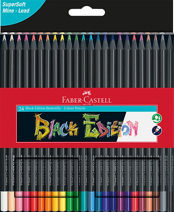 Black Edition Buntstifte 24 Stück (Faber-Castell)