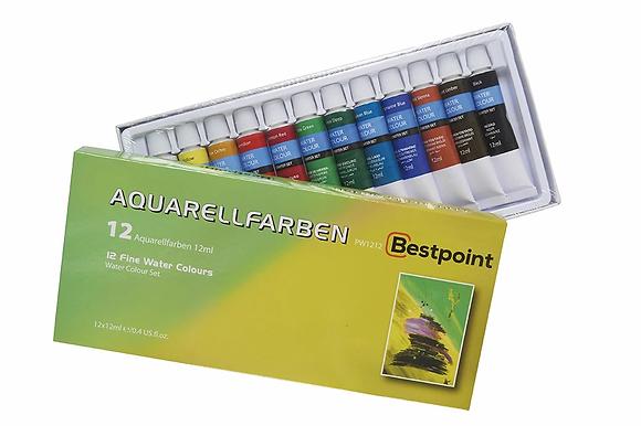 Aquarellfarben 12 Stk. (Bestpoint)