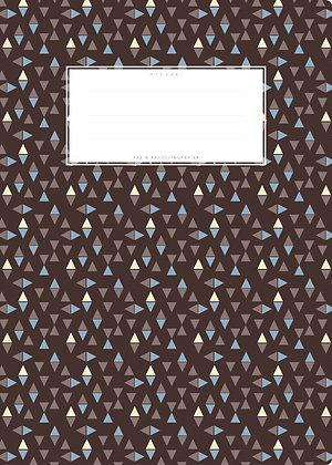 braun / Dreiecke - A4 Starkpapier (minouki)