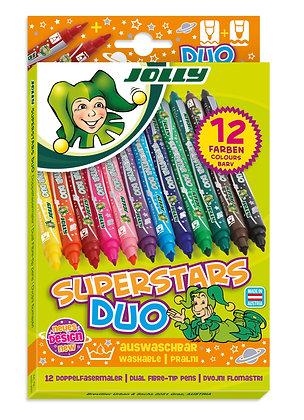 Superstars DUO Fasermaler 12 Stück  (JOLLY)