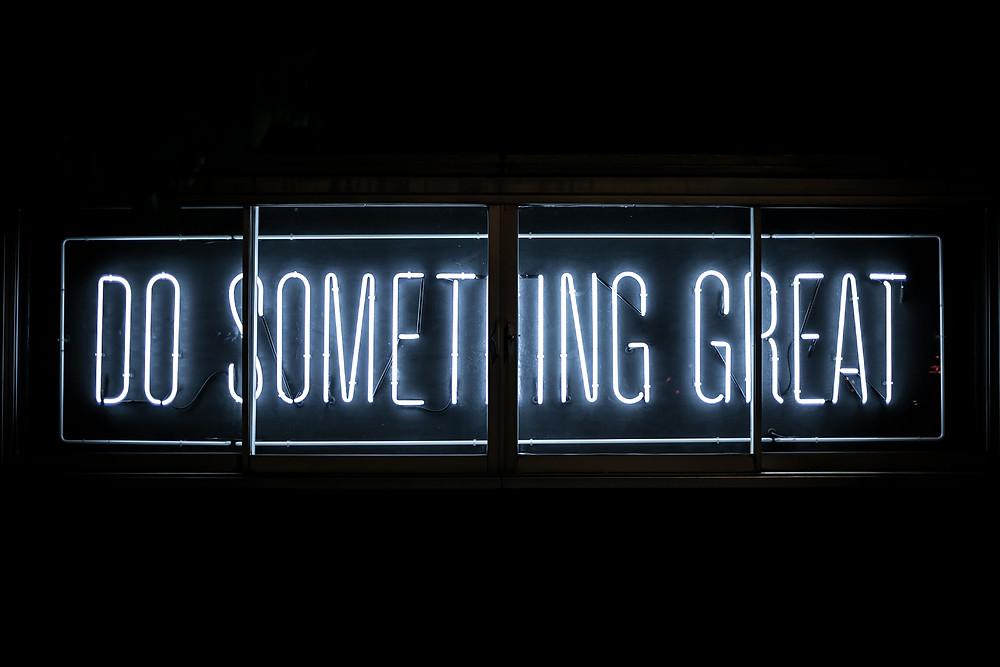 Mache etwas Großartiges - Schulhefte Aktion