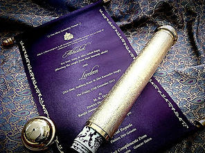 scroll invitation in pune cloth wedding invitation cards