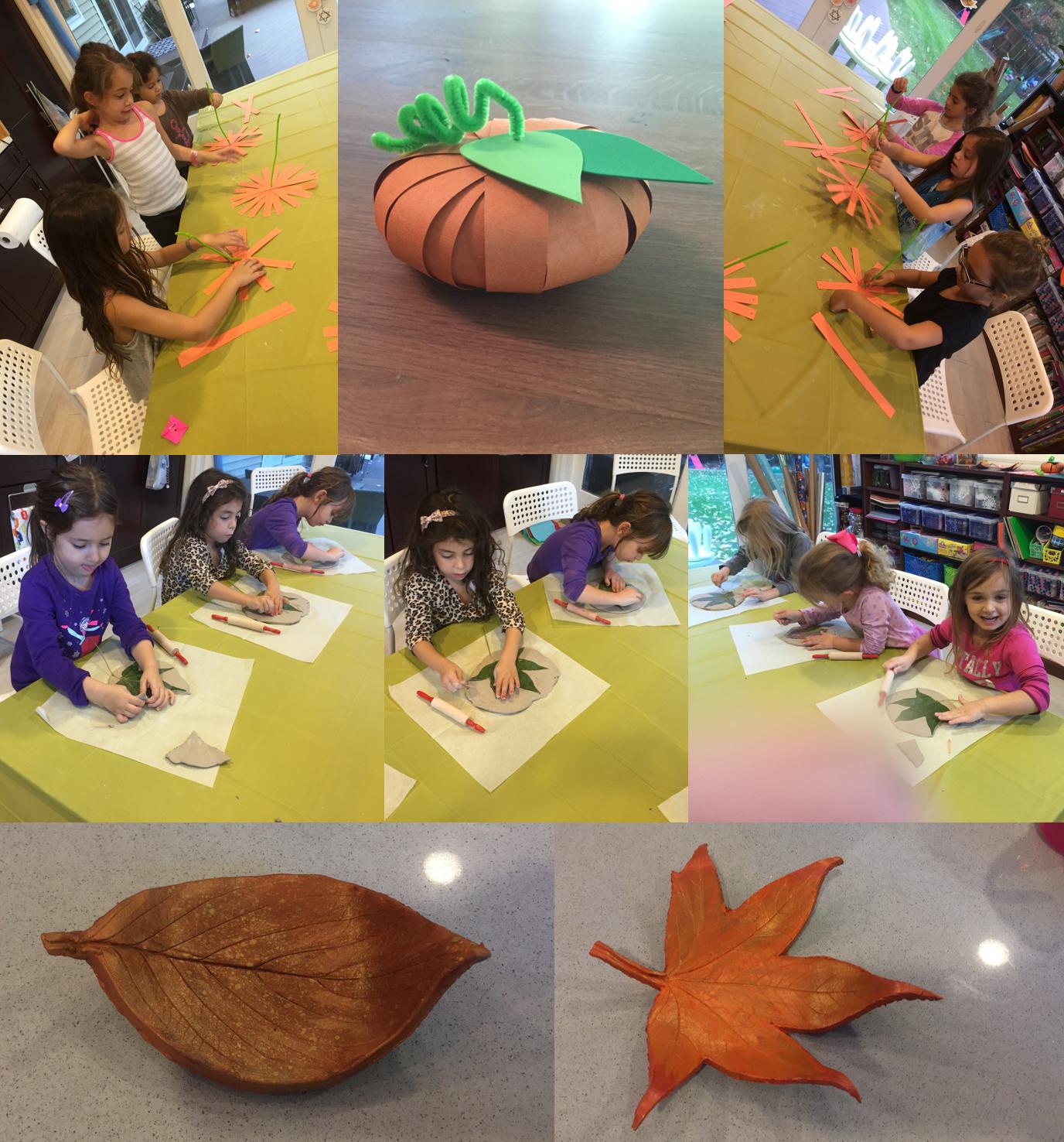 fall clay leaf and pumpkin 2015
