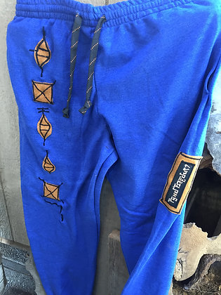 Blue sweats with code size XL