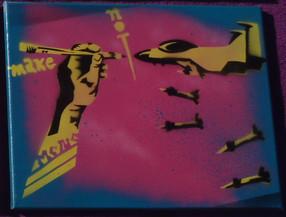 Make art not war!
