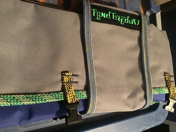 Navy Blue Tarp Rope Bag