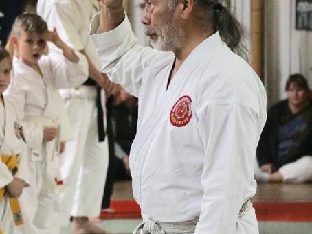 Shigeru Ishizuka 6.Dan zu Besuch im Osaka Sport Center Emden