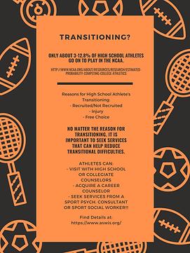 High School Athletes Transitioning Poste