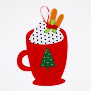 Felt Hot Cocoa Craft - Santas Wonderland