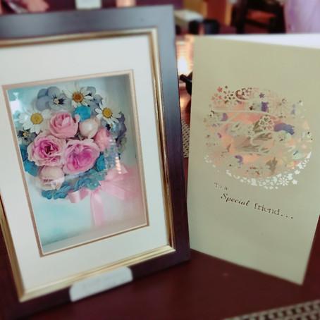 Japanese Pressed Flower Wedding flower & Card レカンフラワー 結婚の花