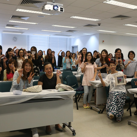 """Happy sharing in HK Baptist University """"Chances to Possibilities """" Japanese Pressed Flower"""