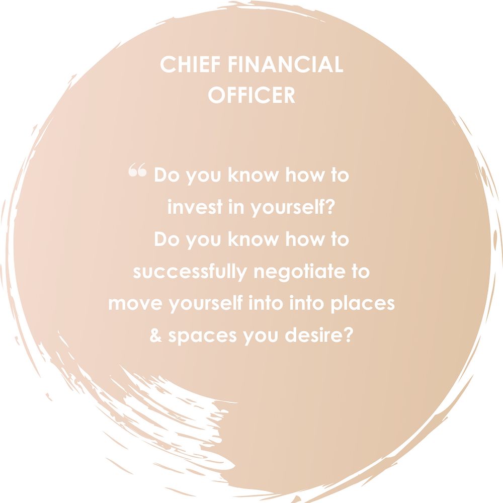 Do you know how to invest in yourself? Dpo you know how to successfully negotiate to move yourself into places and spaces you desire?