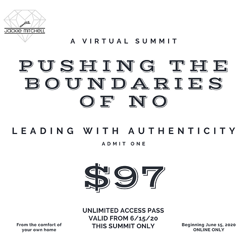 Pushing The Boundaries of NO Summit All Access Pass by Jackie Mitchell Career Consulting
