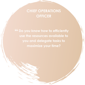 Do you know how to efficiently use the resources available to you adn delegate tasks to maximize your time?
