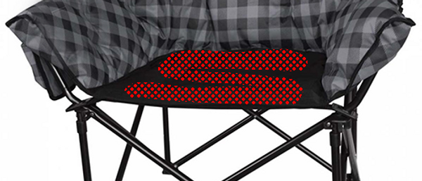Heated Folding Chair Heater