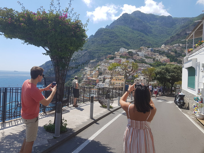 POSITANO WITH OUR CLIENTS