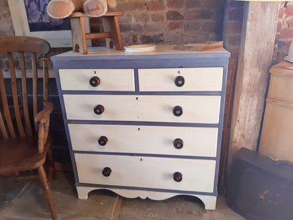 Decorated Victorian Chest of Drawers £345