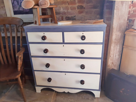 Decorated Victorian Chest of Drawers