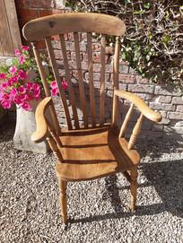 Victorian Pine Grandfather Kitchen Chair £145